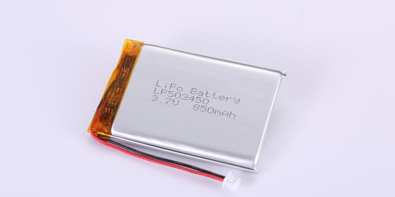 Li Polymer Battery LP503450 3.7V 850mAh with Molex 51021-0200(A) Connector