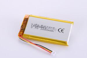 Li Polymer Battery LP583864 3.7V 2080mAh with PCM, NTC, Wires, Molex 51021-0300 Connrector