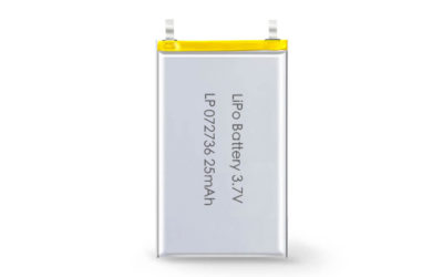 3.7V Rechargeable Li Polymer Battery LP072736 25mAh Without PCM