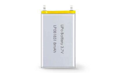 3.7V Rechargeable Li Polymer Battery LP081831 8mAh Without PCM