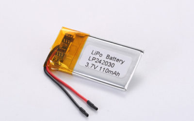 3.7V Rechargeable Li Polymer Battery LP242030 110mAh With PCM and Wires