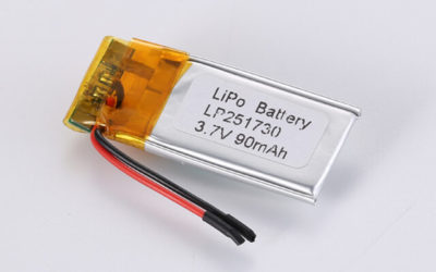 3.7V Rechargeable Li Polymer Battery LP251730 90mAh With PCM and Wires