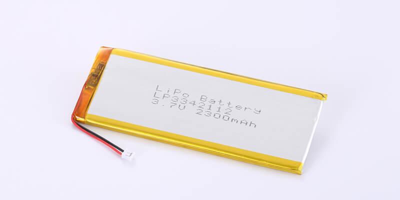 Li Polymer Battery LP3342112 3.8V 2300mAh with Molex 51021-0200