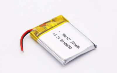 3.7V Rechargeable Li Polymer Battery LP382127 200mAh With PCM and Wires