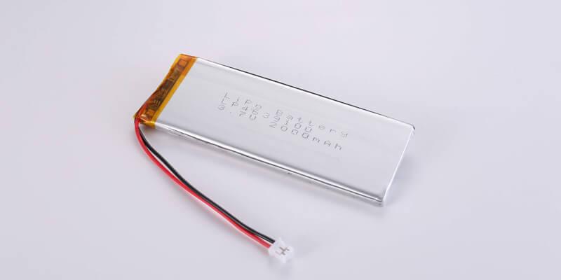 Li Polymer Battery LP4639100 3.7V 2000mAh with Molex 51021-0200