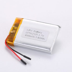 Li Polymer Battery LP502535 3.7V 400mAh