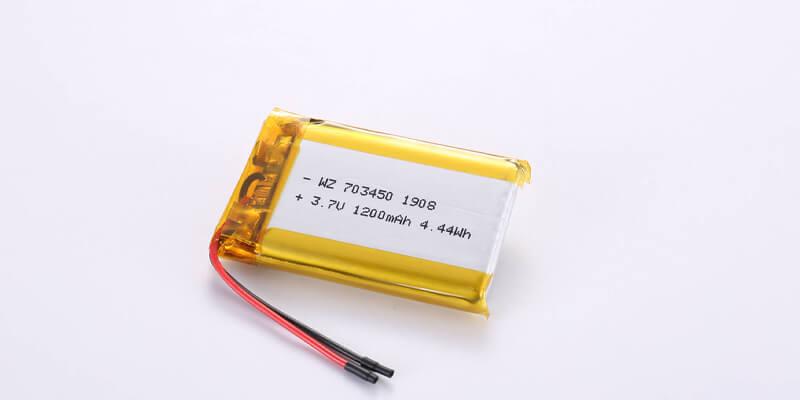 Li Polymer Battery LP703450 3.7V 1200mAh 4.44Wh