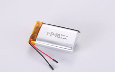 3.7V Rechargeable Li Polymer Battery LP102540 1000mAh With PCM and Wires