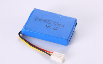 3.7V Rechargeable Li Polymer Battery LP103450A 2000mAh With NTC and Molex Connector
