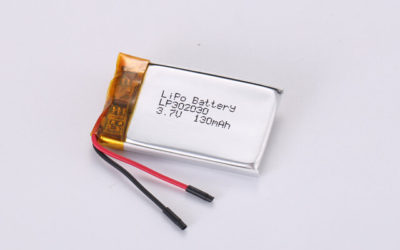 3.7V Rechargeable Li Polymer Battery LP302030 130mAh With PCM and Wires