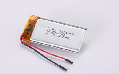 3.7V Rechargeable Li Polymer Battery LP302040 200mAh With PCM and Wires