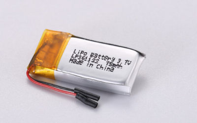 3.7V Rechargeable Li Polymer Battery LP361122 75mAh Without Protection Circuit