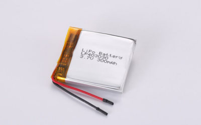 3.7V Rechargeable Li Polymer Battery LP403030 300mAh With PCM and Wires
