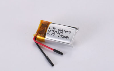 3.7V Rechargeable Li Polymer Battery LP501220 100mAh With PCM and Wires