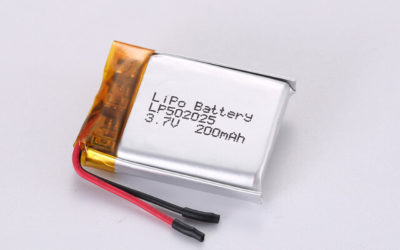3.7V Rechargeable Li Polymer Battery LP502025 200mAh With PCM and Wires