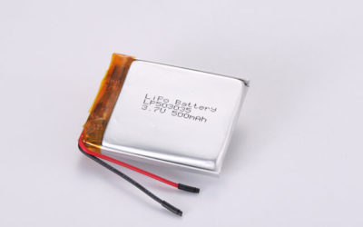 3.7V Rechargeable Li Polymer Battery LP503035 500mAh With PCM and Wires