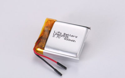 3.7V Rechargeable Li Polymer Battery LP802526 400mAh With PCM and Wires