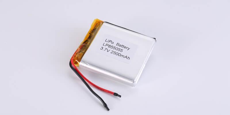 Li Polymer Battery LP855055 3.7V 2500mAh
