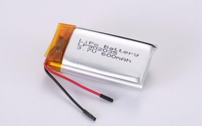 3.7V Rechargeable Li Polymer Battery LP902035 600mAh With PCM and Wires