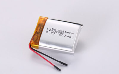 3.7V Rechargeable Li Polymer Battery LP902530 650mAh With PCM and Wires