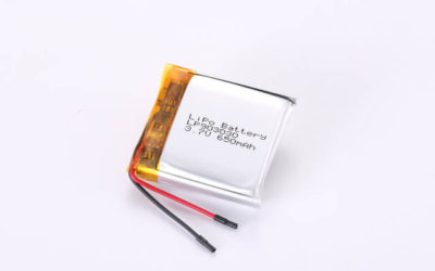 3.7V Rechargeable Li Polymer Battery LP903030 650mAh With PCM and Wires