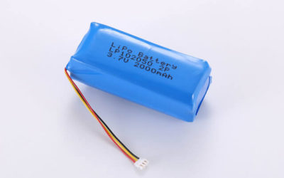 3.7V Rechargeable Li Polymer Battery Pack LP102050 2P1S 2000mAh With NTC and JST Connector