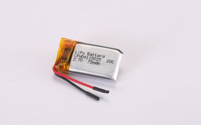 3.7V High Rate Discharge Li Polymer Battery LPHD4115025 20C 75mAh With Protection Circuit and Wires