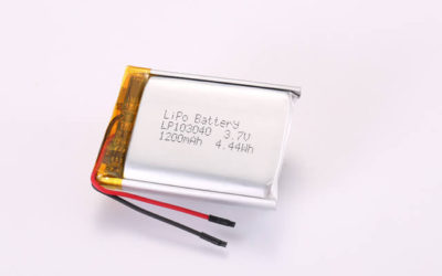 3.7V Rechargeable Li Polymer Battery LP103040 1200mAh 4.44Wh With PCM and Wires