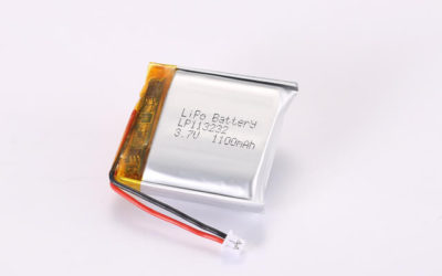 3.7V Rechargeable Li Polymer Battery LP113232 1100mAh With PCM and Molex Connector