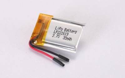 3.7V Rechargeable Li Polymer Battery LP221619 30mAh With Protection Circuit