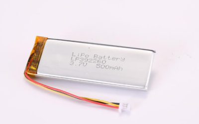 3.7V Rechargeable Li Polymer Battery LP392260 500mAh With NTC and Molex Connector