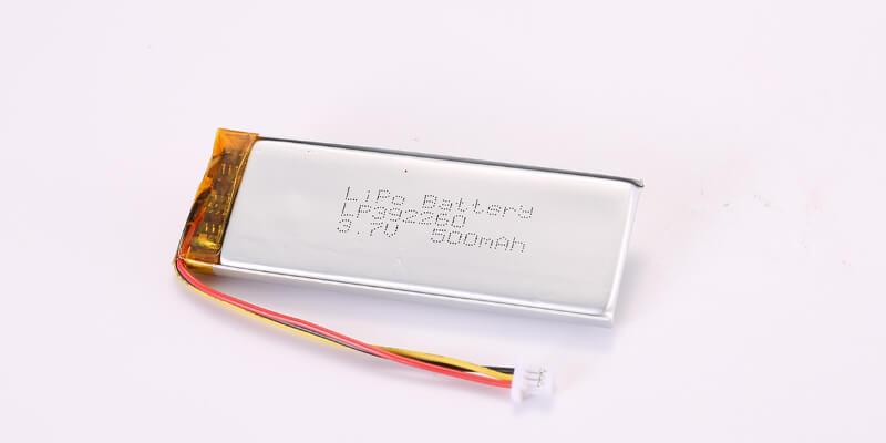 Li Polymer Battery LP392260 3.7V 500mAh with NTC and Molex 51021-0300 connector