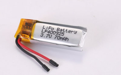 3.7V Rechargeable Li Polymer Battery LP400925 70mAh With PCM and Wires