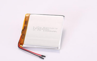 3.7V Rechargeable Li Polymer Battery LP484850 1000mAh With PCM and Wires