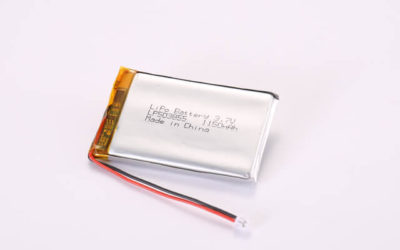 3.7V Rechargeable Li Polymer Battery LP503855 1150mAh With PCM and Molex Connector
