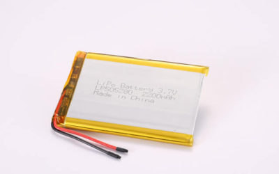 3.7V Rechargeable Li Polymer Battery LP505280 2200mAh With PCM and Wires