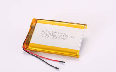 3.7V Rechargeable Li Polymer Battery LP604260 2000mAh With PCM and Wires