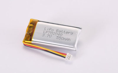 3.7V Rechargeable Li Polymer Battery LP702040 550mAh With NTC and Molex Connector