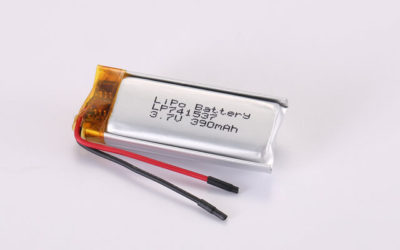 3.7V Rechargeable Li Polymer Battery LP741537 390mAh With PCM and Wires