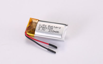 3.7V Rechargeable Li Polymer Battery LP801225 210mAh With PCM and Wires